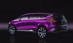 Relive the design birth of New #Renault #Espace - (c) Renault Design, droits réservés
