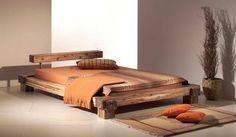CALI Doppelbett / Massivholzbett Akazie massiv Akazie