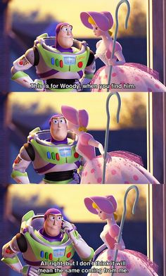 I don't think it'll mean the same coming from me. Toy Story Funny, Toy Story Quotes, Toy Story 1995, Toy Story Movie, Disney Pixar Movies, Disney Crossovers, Disney Toys, Disney And Dreamworks, Funny Disney