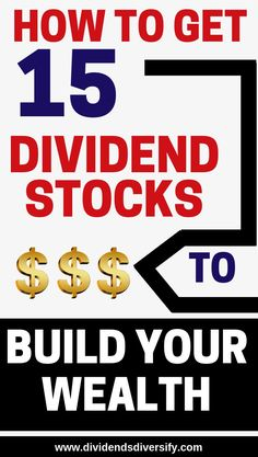 With one purchase I automatically got 15 dividend stocks for passive income and wealth building. Dividend investing and dividends are the way to go. Participate in the stock market with this awesome investment idea. If you are ready to invest money the Stock Market Investing, Investing In Stocks, Investing Money, Investment Tips, Investment Portfolio, Investment Books, Investment Quotes, Dividend Investing, Dividend Stocks