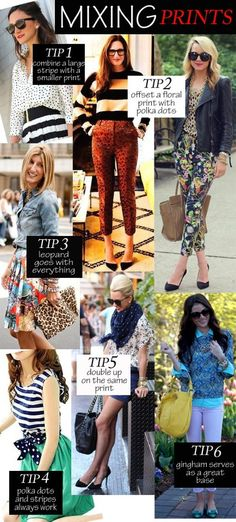 We love this print mixing guide!