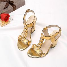 f1aa02281 Summer Women Sandals Genuine Leather Fashion Casual Super High Square Heel  Big Size Buckle Strap String