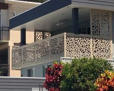 Give your balcony a facelift. Powdercoated, durable 3mm thick Aluminium privacy screens by Screen Art. http://www.screenart.net.au