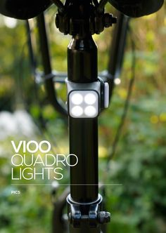 Vioo Quadro Bicycle lights On market - W9 2014 - www.btwin.com