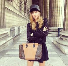 Italian fashion blogger Chiara Ferragni shared with her fans on her Instagram profile her latest bag obsession – the Louis Vuitton W handbag.