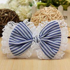Sale 15% (2.39$) - Baby Children Lace Bow Headband Flower Stripes Elastic Headwear
