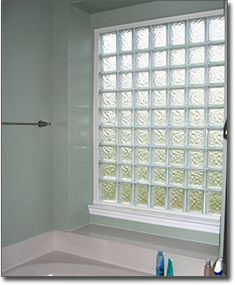 glass block window in shower | Glass Block Bathroom Windows in St. Louis, Privacy Glass Windows