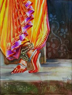Wonderful Pictures 29 Ideas Dancing Drawings Watercolors For 2019 Suggestions Vandana Puthanveettil posseses an detailed Hobby: she is a part-time solo dancer. Watercolor Fabric, Fabric Painting, Watercolor Paintings, Dance Paintings, Indian Art Paintings, Dancing Drawings, Art Drawings, Bd Art, Photography Sketchbook