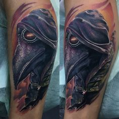 Amazing doctor plague done by 👉🏻 https://m.facebook.com/painfulartManu/  #tattoos #color #realistic #painfulart
