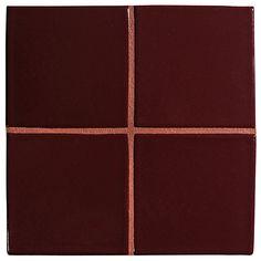 "Complete Tile Collection McIntones Ceramics, Merlot 3"" x 3""  Field Tile, MI#: 148-C1-314-730, Color: Merlot"