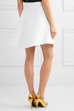 DELPOZO - Linen Mini Skirt - White - FR