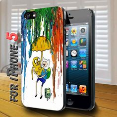 adventure time painting drip Black Case for iphone