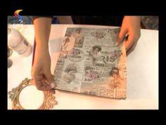 Aprenda a fazer pintura com carimbos em decupagem! - YouTube