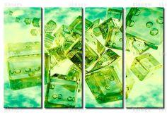 Tableau Cubes en vert