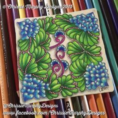 Zentangle Inspired Art using Prismacolor's by Chrissie Murphy Designs