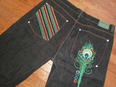 BIG MENS 44 COOGI black DENIM jean SHORTS URBAN AUSTRALIAN embroidered pockets #COOGI #Denim
