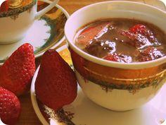 hot chocolate s jahodami