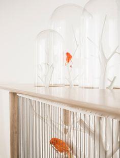 """Console/Birdcage """"Archibrid"""" detail Grégoire de Lafforest - Furniture Design - Unique piece - Galerie Gosserez"""