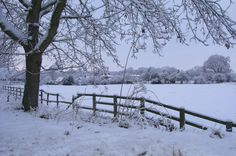 There is something different about a snowy day in England