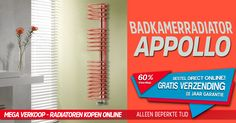 Badkamerradiator - CIRCLE zich een nuttig en functioneel element. Deze knappe ruimtebesparende radiator past in elk hoekje. Krijg 60% korting