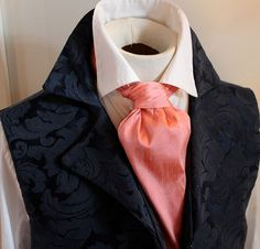 Boys Cravat Wedding Ascot Necktie Formal Party One Size Dark Salmon Pink Easy To Lubricate Clothing, Shoes & Accessories