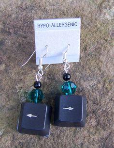 Keyboard Key Earrings   by April Crockett