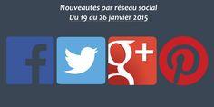 Récapitulatif des dernières fonctionnalités par réseau social : du 19 au 26 janvier 2015