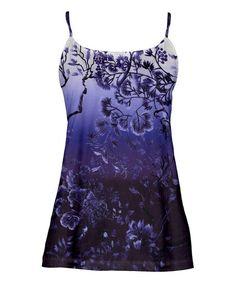 ca46f5c6b3f Simply Aster Purple   Black Tree Camisole - Plus Too