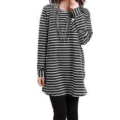Allegra K Maternity Motherhood Round Neck Long Sleeve Autumn Tunic Shirt Tops Dark Gray M Allegra K. $15.74