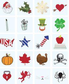 Heidi Swapp Lightbox Holiday Icons