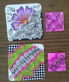 Twinchies & Inchies Swap. Zentangle Artist's Trading Card Swap group. Julie Beland. 8/15. Zentangle. ZIA. Zendoodle.