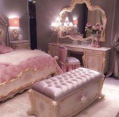 Trendy luxury bedroom furniture hollywood - My Home Decor Room Ideas Bedroom, Bedroom Decor, Shabby Bedroom, Bedroom Small, Luxury Bedroom Furniture, Cute Room Decor, Pink Room, Aesthetic Room Decor, Pink Aesthetic