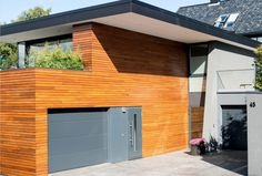 New house by Ramp. Stavanger Norway, Garage Doors, New Homes, Outdoor Decor, House, Home Decor, Decoration Home, Home, Room Decor