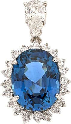 Sapphire & Diamond Pendant It's so Beautiful. SLVH ♥♥♥♥