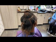 Silk press on short hair - YouTube