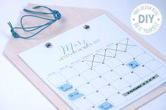 Ynas Design Blog | DIY Kalender 2016