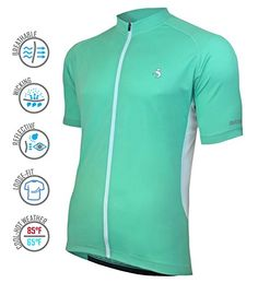 e6d8ff499 MUTEKI Mens Basic Cycling Jersey XLarge Teal   Be sure to check out this  awesome product