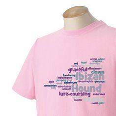 Ibizan Hound Garment Dyed Cotton Tshirt by WryToastDesigns on Etsy, $25.00
