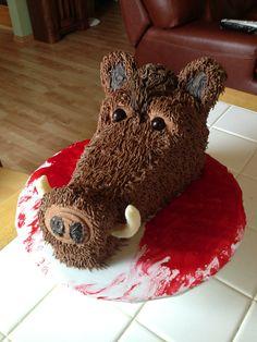 Boars Head Cake Food Hunting Birthday Cakes Pig