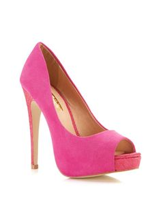 Donda Peeptoe Court - Miss Selfridge Europe Peep Toe Shoes, Shoes Heels, Court Heels, Pink Pumps, Petite Outfits, Platform Pumps, Miss Selfridge, Going Out, Stiletto Heels
