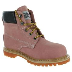 7e9f67a6b7341c Safety Girl Sheepskin Lined Women s Work Boot Light Pink Soft Toe Size  11