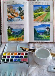 Watercolor sketches...