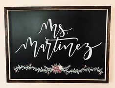 This chalkboard sign is the perfect addition to any teacher's classroom! Chalkboard sign is completely customizable and hand-painted/written. Chalkboard dimensions are Message your customizations in the notes box when ordering! Calligraphy Lessons, Calligraphy Signs, Budget Organization, Classroom Organization, Chalkboard Designs, Chalkboard Quotes, Classroom Decor Themes, Classroom Ideas, Teacher Name Signs