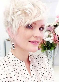 Messy Platinum Blonde Pixie Cut