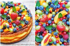 Smetanovo-sýrový dort s ovocem - Cheesecake cake with fruit www.peknevypecenyblog.cz