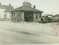 Old Shell Station in Greenwood, IN. From the Johnson County Museum collection.