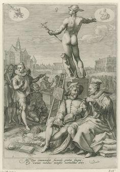 Mercurius, Jan Saenredam, Hendrick Goltzius, Cornelius Schonaeus, 1596