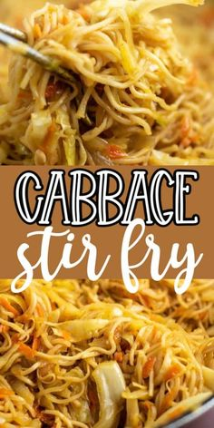 Ramen noodle cabbage stir fry recipe. Top with sweet chili sauce! My family absolutely loves this recipe! Stir Fry Recipes, Vegetable Recipes, Vegetarian Recipes, Cooking Recipes, Healthy Recipes, Top Ramen Recipes, Noodle Recipes, Cabbage And Noodles, Cabbage Stir Fry