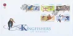 Post stamps Namibia Kingfishers FDC