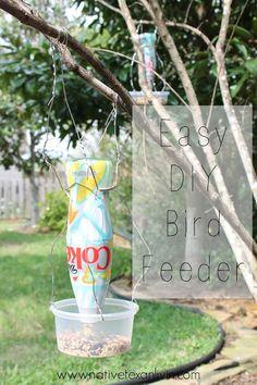 Easy DIY Bird Feeder from @dietcokeus It's Mine bottle! #MyFavoriteIsAllMine #CollectiveBias #ad